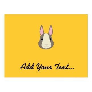 Conejo gris tarjeta postal