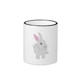 Conejo gris tazas de café