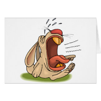 Conejo gritador tarjeta de felicitación