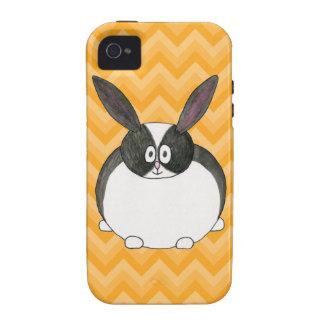 Conejo holandés blanco y negro Case-Mate iPhone 4 carcasa