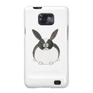 Conejo holandés blanco y negro samsung galaxy SII funda