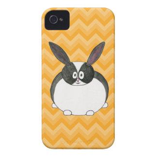 Conejo holandés blanco y negro iPhone 4 cárcasa
