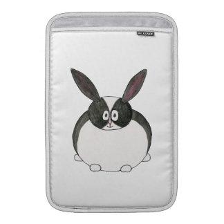 Conejo holandés blanco y negro fundas MacBook
