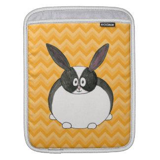 Conejo holandés blanco y negro manga de iPad