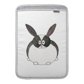 Conejo holandés blanco y negro funda macbook air