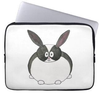 Conejo holandés blanco y negro mangas computadora