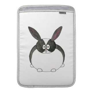 Conejo holandés blanco y negro fundas macbook air