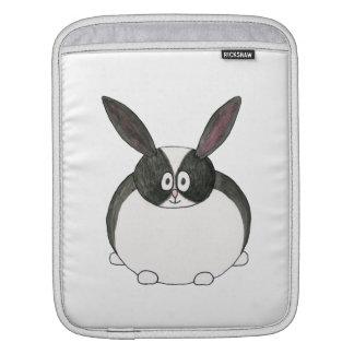 Conejo holandés blanco y negro fundas para iPads