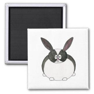 Conejo holandés blanco y negro imán de frigorífico