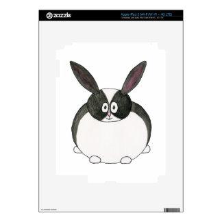 Conejo holandés blanco y negro iPad 3 skins