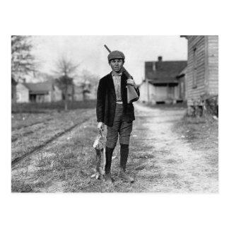 Conejo Hunting, 1908 Tarjeta Postal