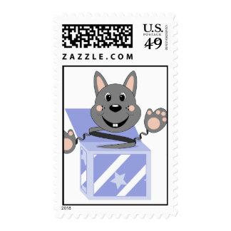 Conejo Kasper de Skrunchkin en caja azul Sellos