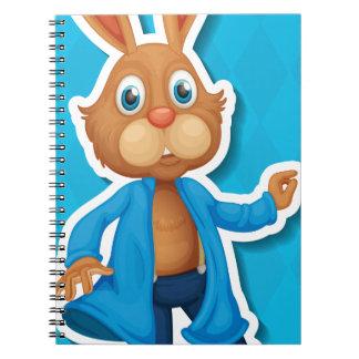 Conejo Libro De Apuntes Con Espiral