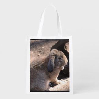 Conejo lindo bolsas para la compra