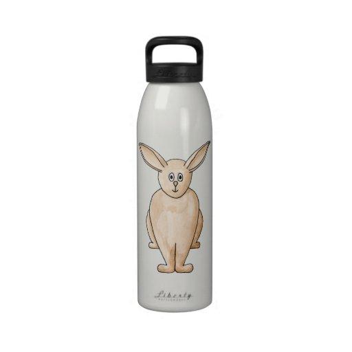 Conejo lindo botellas de agua reutilizables