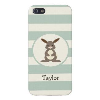 Conejo lindo, conejito en verde salvia ligera iPhone 5 funda