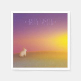 """Conejo lindo de """"Pascua feliz"""" de la salida del Servilletas De Papel"""