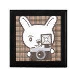 Conejo lindo del fotógrafo caja de recuerdo