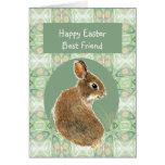 Conejo lindo del mejor amigo de Pascua de la escri Tarjetas