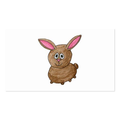 Conejo lindo divertido tarjetas de visita