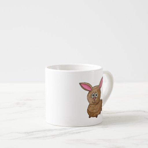 Conejo lindo divertido tazitas espresso