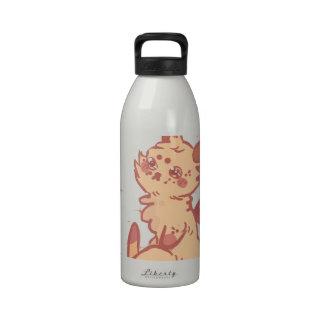 Conejo lindo el chispear (primer) botella de agua