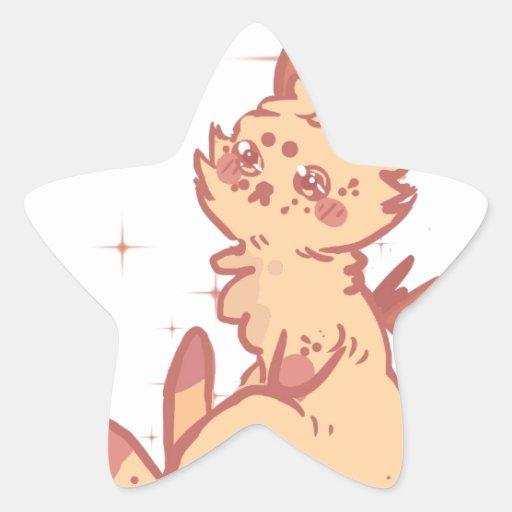 Conejo lindo el chispear (primer) pegatina en forma de estrella