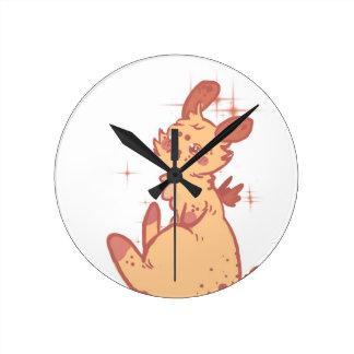 Conejo lindo el chispear (primer) reloj de pared