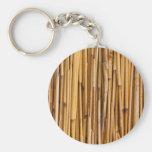 Conejo lindo en el fondo de bambú llaveros personalizados