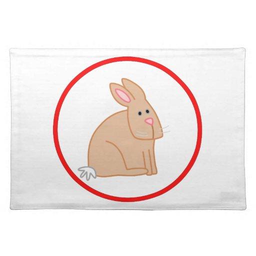 Conejo lindo mantel individual