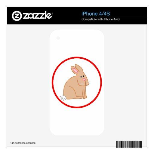 Conejo lindo skins para eliPhone 4