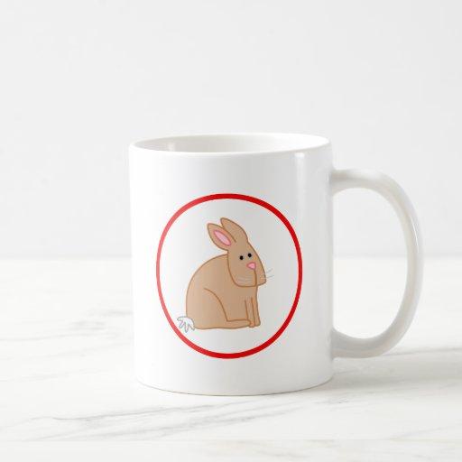 Conejo lindo taza de café