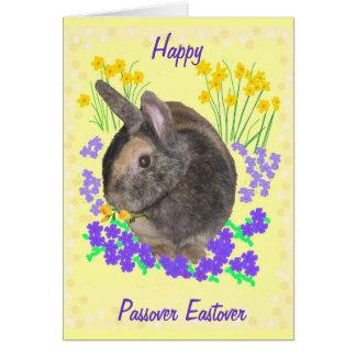 Conejo lindo y Passover de las flores, Eastover Tarjeta De Felicitación