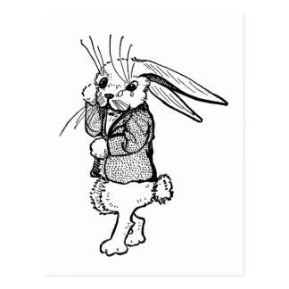 Conejo lloroso postal