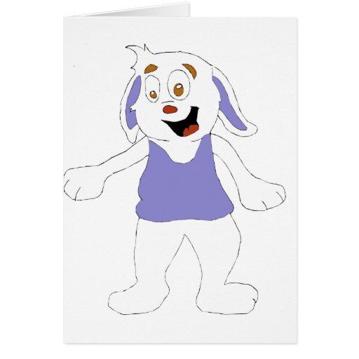 Conejo mágico de la reyerta del baile tarjeta de felicitación