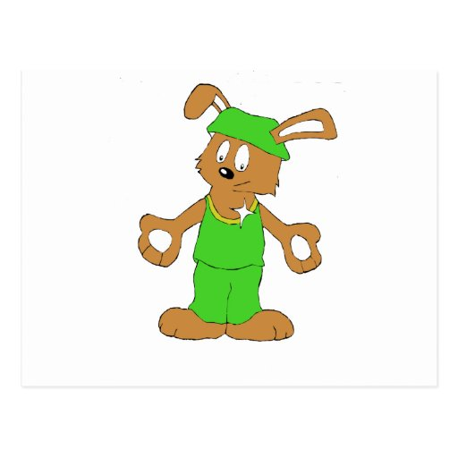 Conejo mágico del mago de la reyerta tarjeta postal
