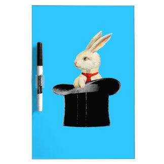 conejo mágico del sombrero de copa del vintage pizarras blancas de calidad