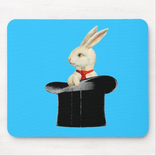 conejo mágico del sombrero de copa del vintage alfombrillas de ratones