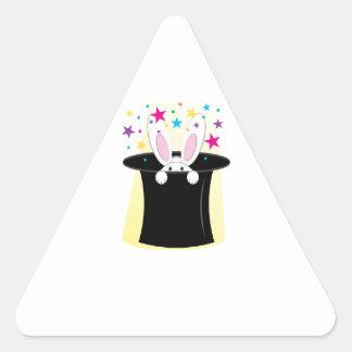 Conejo mágico calcomanías de triangulos personalizadas