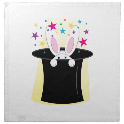 Conejo mágico servilletas de papel