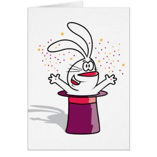 Conejo mágico tarjeta de felicitación