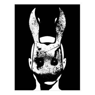 Conejo malvado postales