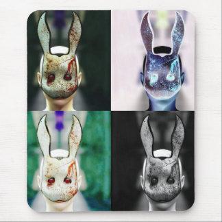 Conejo malvado tapetes de raton