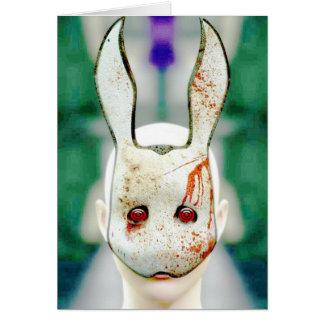 Conejo malvado tarjeta de felicitación