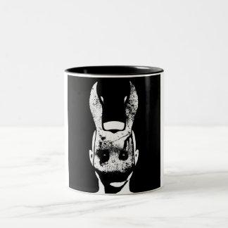 Conejo malvado taza de dos tonos