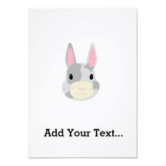 """Conejo manchado invitación 4.5"""" x 6.25"""""""