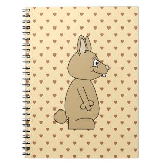 Conejo marrón claro lindo cuadernos