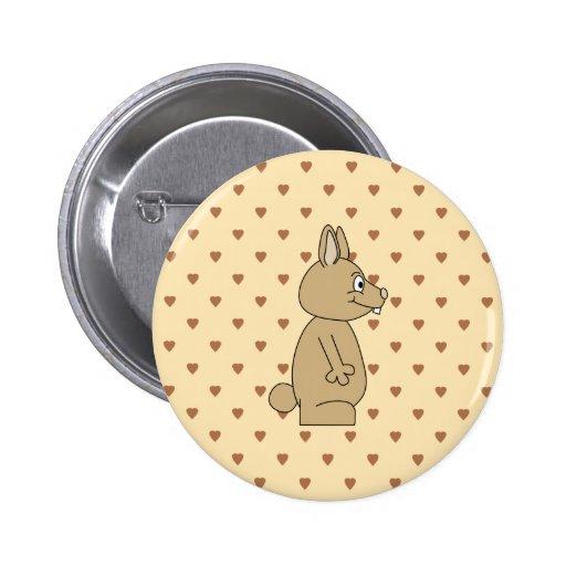 Conejo marrón claro lindo pin