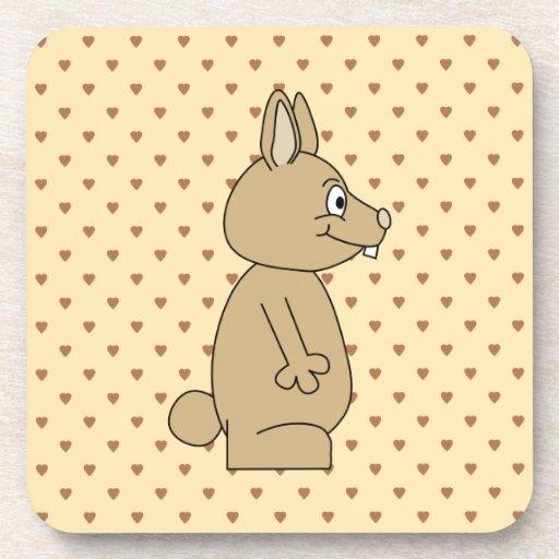 Conejo marrón claro lindo posavaso