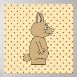 Conejo marrón claro lindo posters